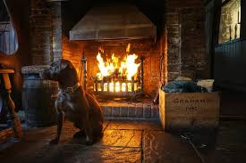 Black lion pub fire place